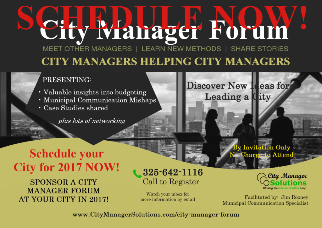 city manager forum 2017